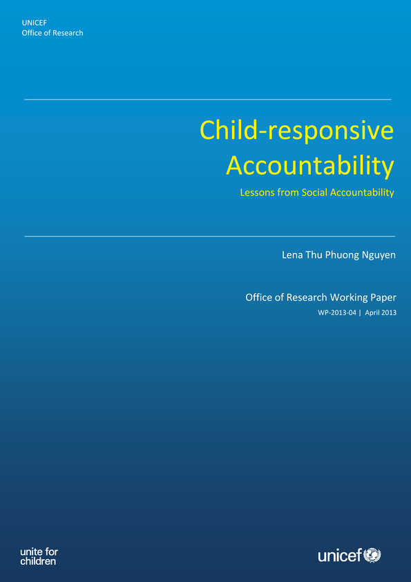 Child-responsive Accountability: Lessons from social accountability