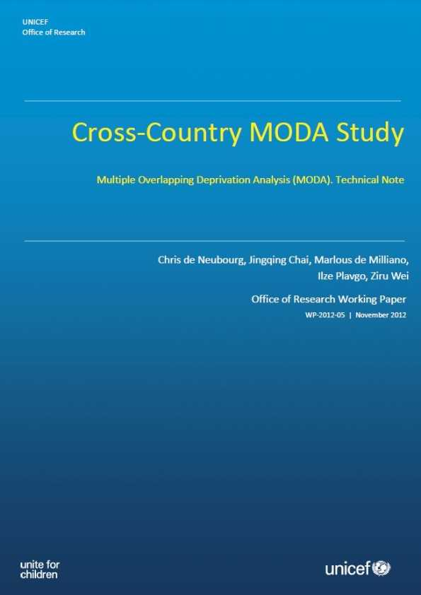 Cross-Country MODA Study: Multiple Overlapping Deprivation Analysis (MODA). Technical Note