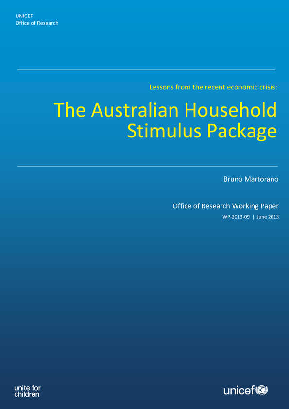 The Australian Household Stimulus Package: Lessons from the recent economic crisis