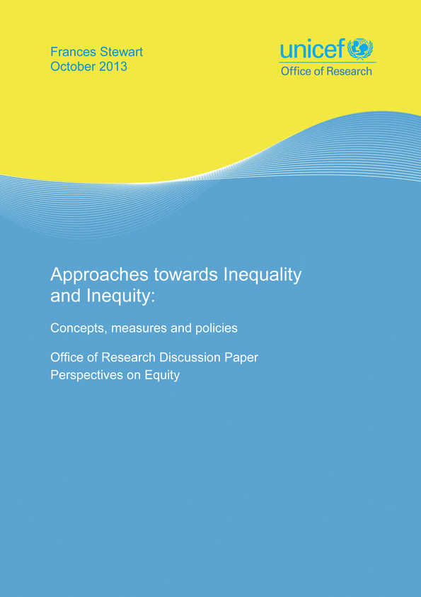 Approaches towards Inequality and Inequity: Concepts, measures and policies