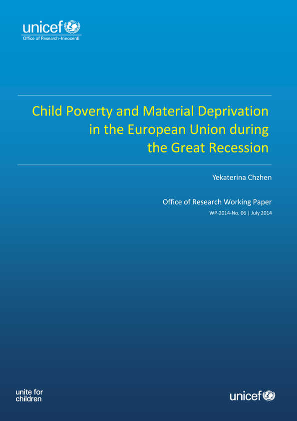 Child Poverty and Material Deprivation in the European Union during the Great Recession