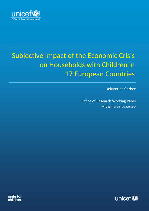 Subjective Impact of the Economic Crisis on Households with Children in 17 European Countries