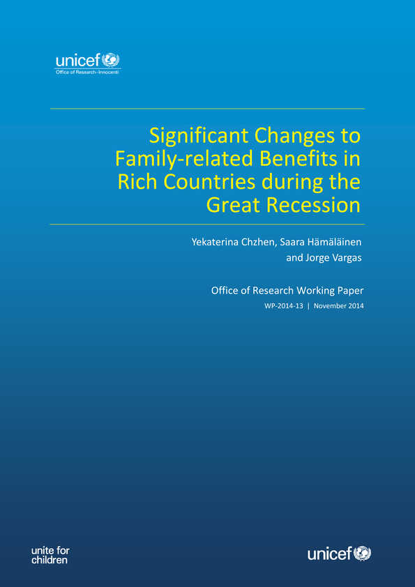 Significant Changes to Family-related Benefits in Rich Countries during the Great Recession