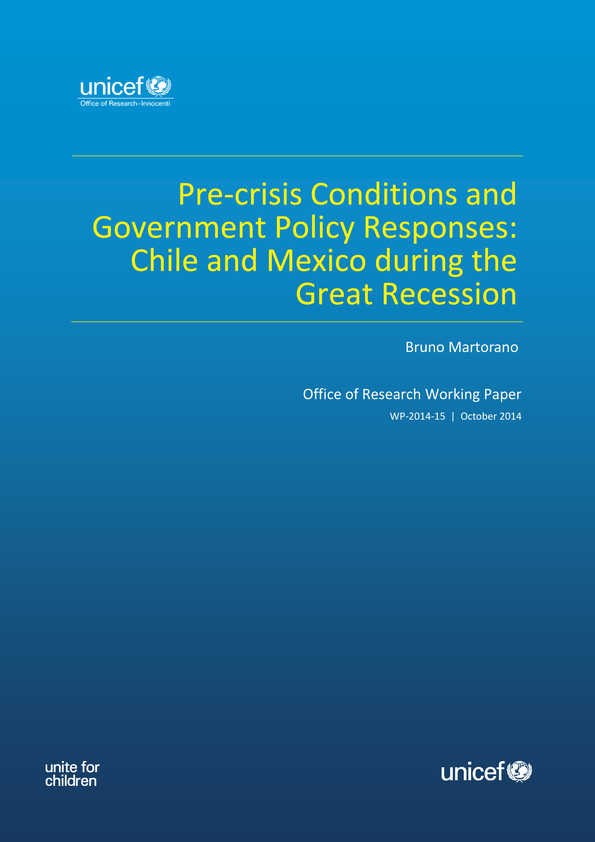 cover Pre-crisis Conditions and Government Policy Responses: Chile and Mexico during the Great Recession