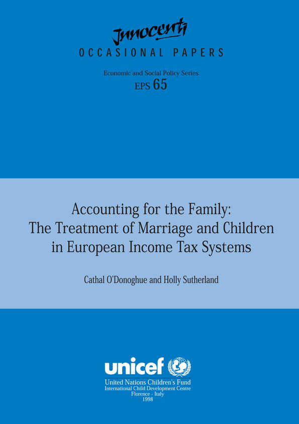 Accounting for the Family: The treatment of marriage and children in European income tax systems