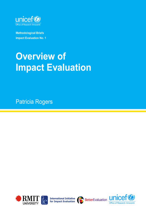 Overview of Impact Evaluation: Methodological Briefs - Impact Evaluation No. 1