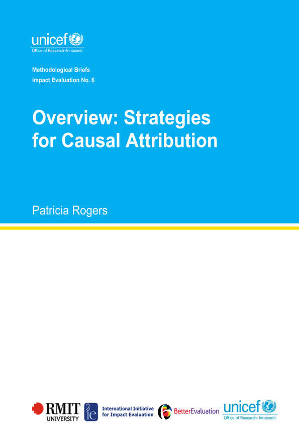 Overview: Strategies for Causal Attribution: Methodological Briefs - Impact Evaluation No. 6