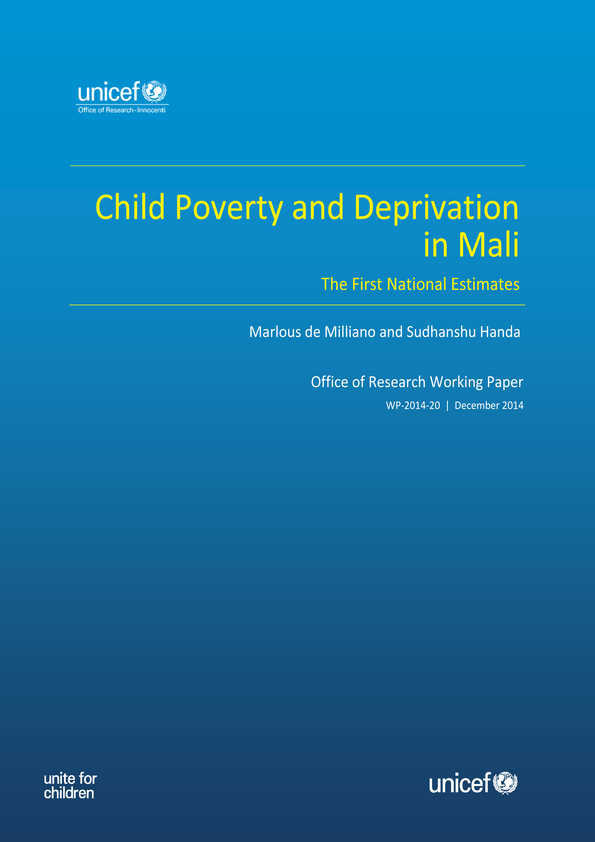 Child Poverty and Deprivation in Mali: The first national estimates