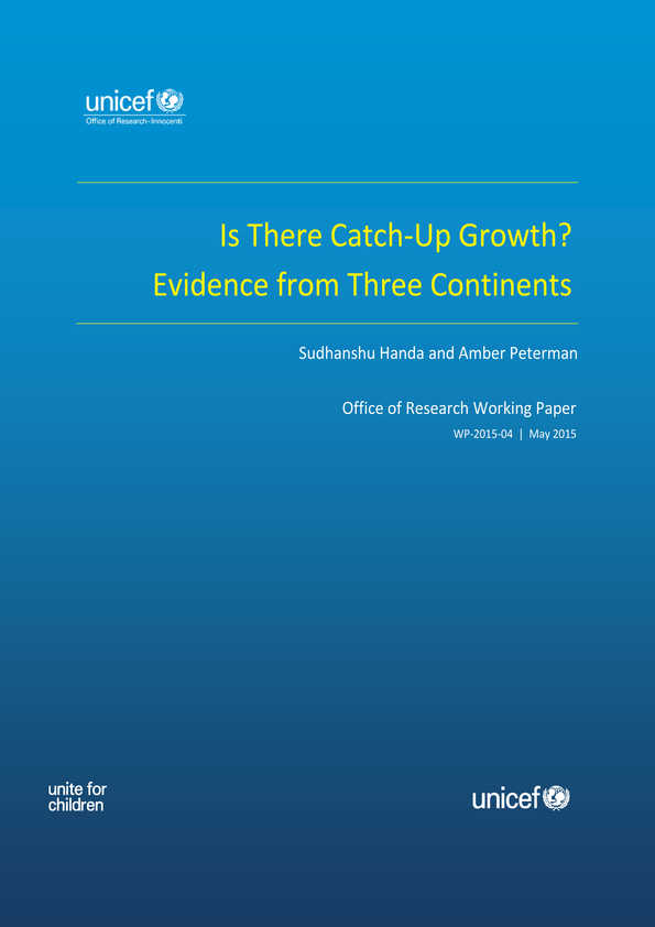Is there Catch-Up Growth? Evidence from Three Continents