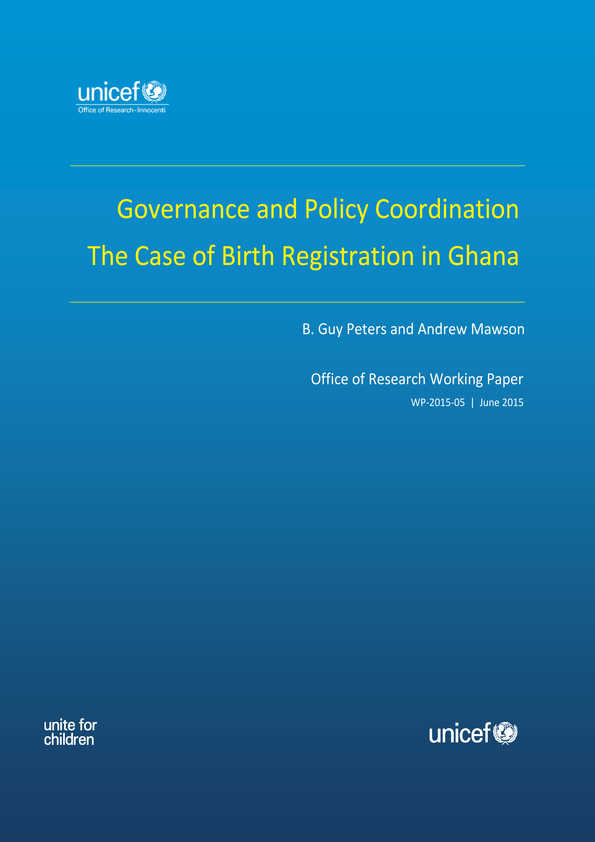 Governance and Policy Coordination: The case of birth registration in Ghana