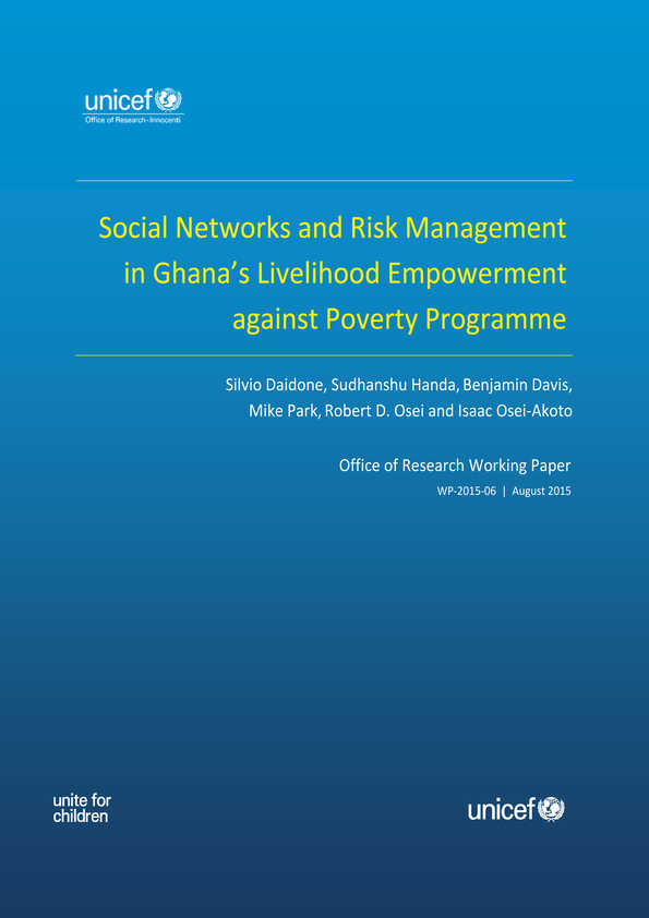 Social Networks and Risk Management in Ghana's Livelihood Empowerment Against Poverty Programme