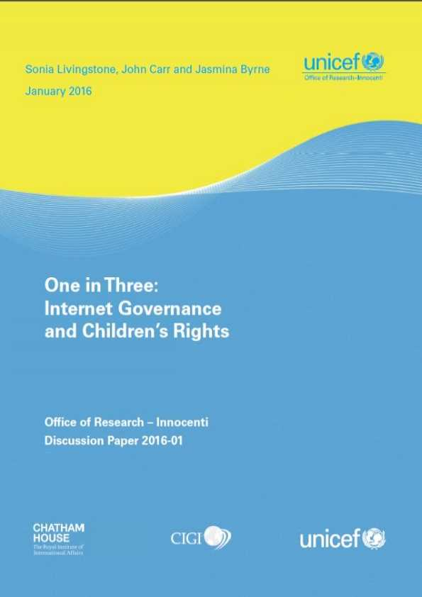 One in Three: Internet Governance and Children's Rights