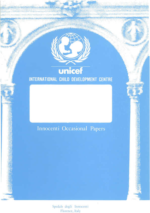 cover Government Expenditures for Children and their Families in Advanced Industrialized Countries, 1960-85