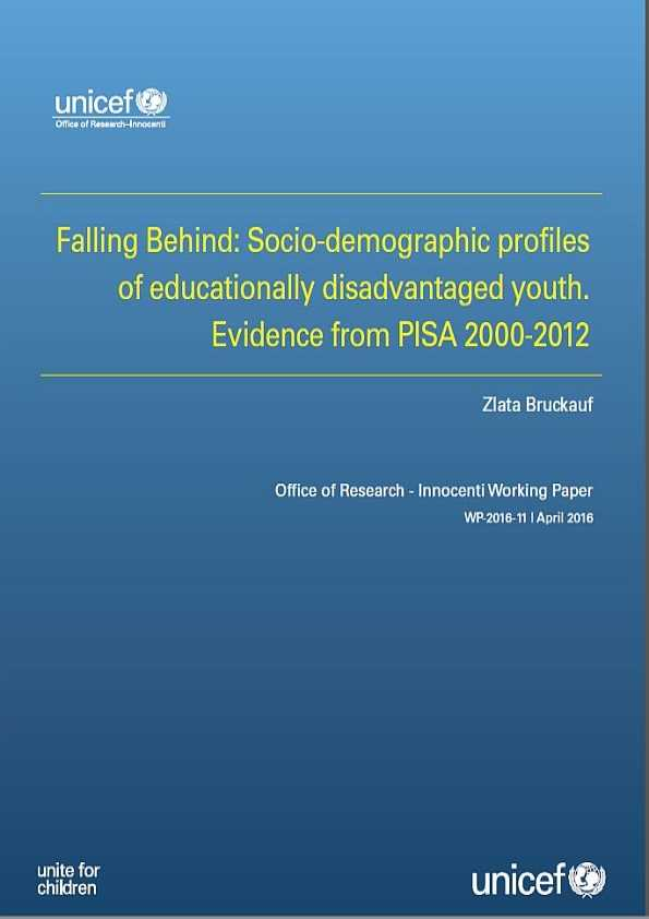 Falling Behind: Socio-demographic profiles of educationally disadvantaged youth. Evidence from PISA 2000-2012