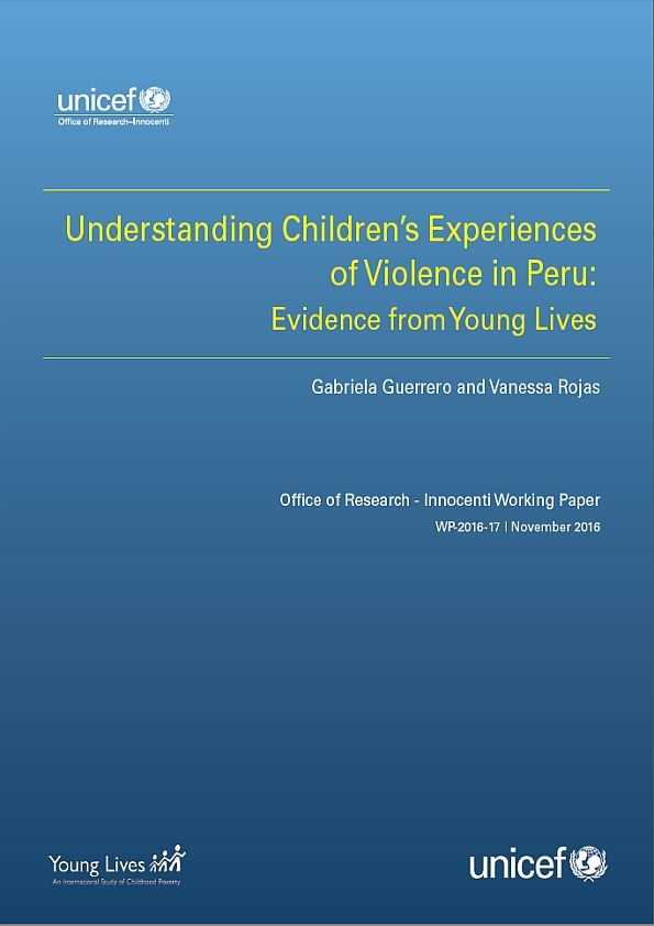 Understanding Children's Experiences of Violence in Peru: Evidence from Young Lives