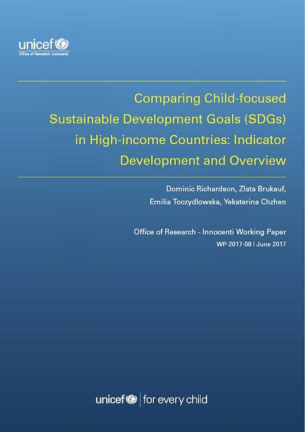 Comparing Child-focused SDGs in High-income Countries: Indicator development and overview