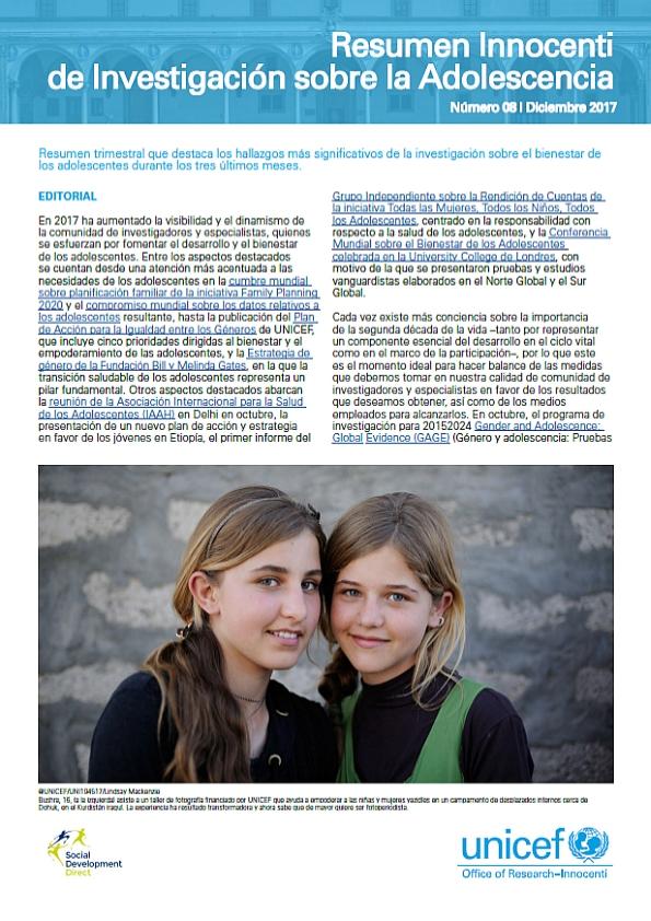 resumen innocenti de investigación sobre la adolescencia 8