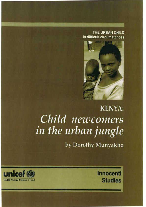 cover Kenya: Child newcomers in the urban jungle