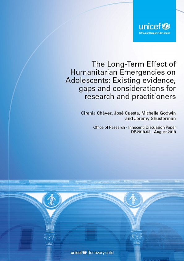 The Long-term Effect of Humanitarian Emergencies on Adolescents: Existing evidence, gaps and considerations for research and practitioners