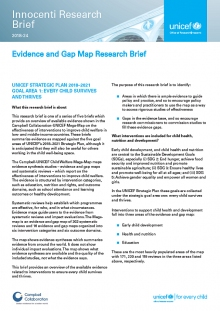 Evidence and Gap Map Research Brief 1