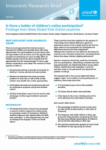 Is there a ladder of children's online participation? Findings from three Global Kids Online countries