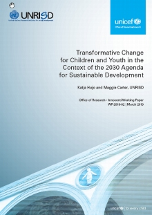 Transformative Change for Children and Youth in the Context of the 2030 Agenda for Sustainable Development