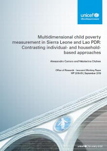 Multidimensional child poverty measurement in Sierra Leone and Lao PDR: Contrasting individual- and household-based approaches