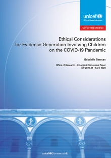 Ethical Considerations for Evidence Generation Involving Children on the COVID-19 Pandemic