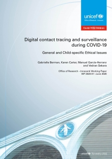 Digital Contact Tracing and Surveillance During COVID-19. General and child-specific ethical issues