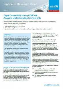 Digital Connectivity During COVID-19: Access to vital information for every child