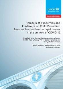 Impacts of Pandemics and Epidemics on Child Protection: Lessons learned from a rapid review in the context of COVID-19
