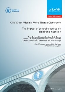 COVID-19: Missing More Than a Classroom. The impact of school closures on children's nutrition