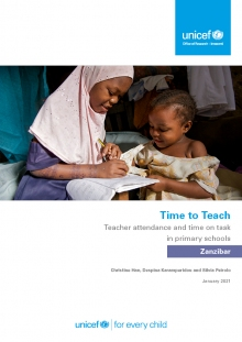 Time to Teach: Teacher attendance and time on task in primary schools Zanzibar