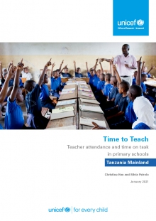 Time to Teach: Teacher attendance and time on task in primary schools Tanzania