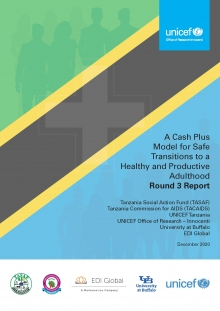 A Cash Plus Model for Safe Transitions to a Healthy and Productive Adulthood Round 3 Report