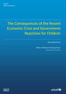 The Consequences of the Recent Economic Crisis and Government Reactions for Children