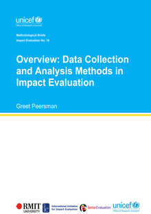 Overview: Data Collection and Analysis Methods in Impact Evaluation: Methodological Briefs - Impact Evaluation No. 10