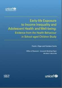 Early-life Exposure to Income Inequality and Adolescent Health and Well-being: Evidence from the Health Behaviour in School-aged Children Study