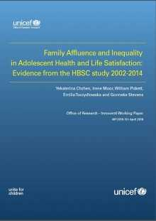Family Affluence and Inequality in Adolescent Health and Life Satisfaction: Evidence from the HBSC study 2002-2014