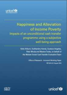 Happiness and Alleviation of Income Poverty: Impacts of an unconditional cash transfer programme using a subjective well-being approach