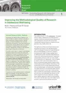 Improving the Methodological Quality of Research in Adolescent Well-being