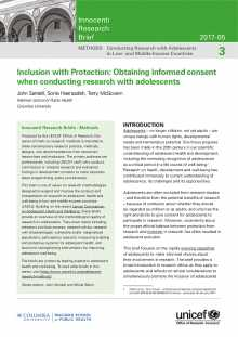 Inclusion with Protection: Obtaining informed consent when conducting research with adolescents