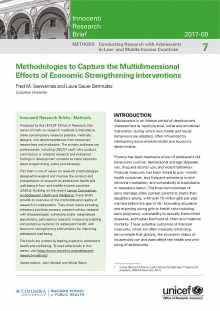 Methodologies to Capture the Multidimensional Effects of Economic Strengthening Interventions