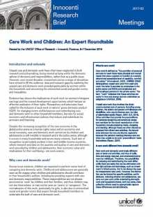 Care Work and Children: An Expert Roundtable