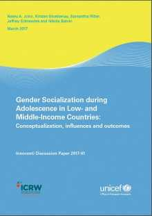 Gender Socialization during Adolescence in Low- and Middle-Income Countries: Conceptualization, influences and outcomes