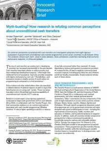 Myth-busting? How research is refuting common perceptions about unconditional cash transfers