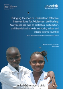 Bridging the Gap to Understand Effective Interventions for Adolescent Well-being: An evidence gap map on protection, participation, and financial and material well-being in low- and middle-income countries