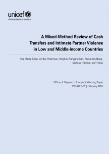 A mixed-method review of cash transfers and intimate partner violence in low and middle-income countries