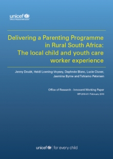 Delivering a Parenting Programme in Rural South Africa: The Local Child and Youth Care Worker Experience