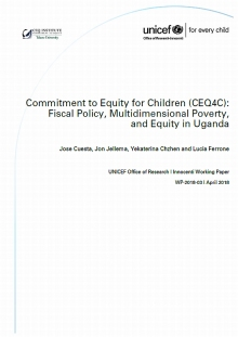 Commitment to Equity for Children, CEQ4C: Fiscal Policy, Multidimensional Poverty, and Equity in Uganda